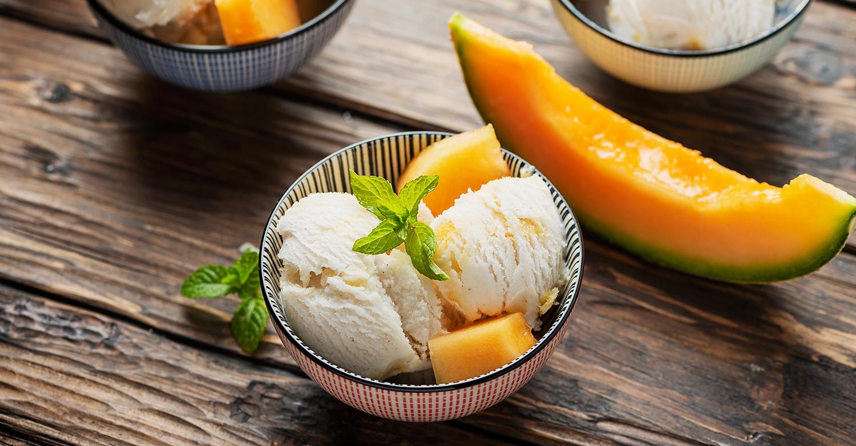 Gelato melone e menta