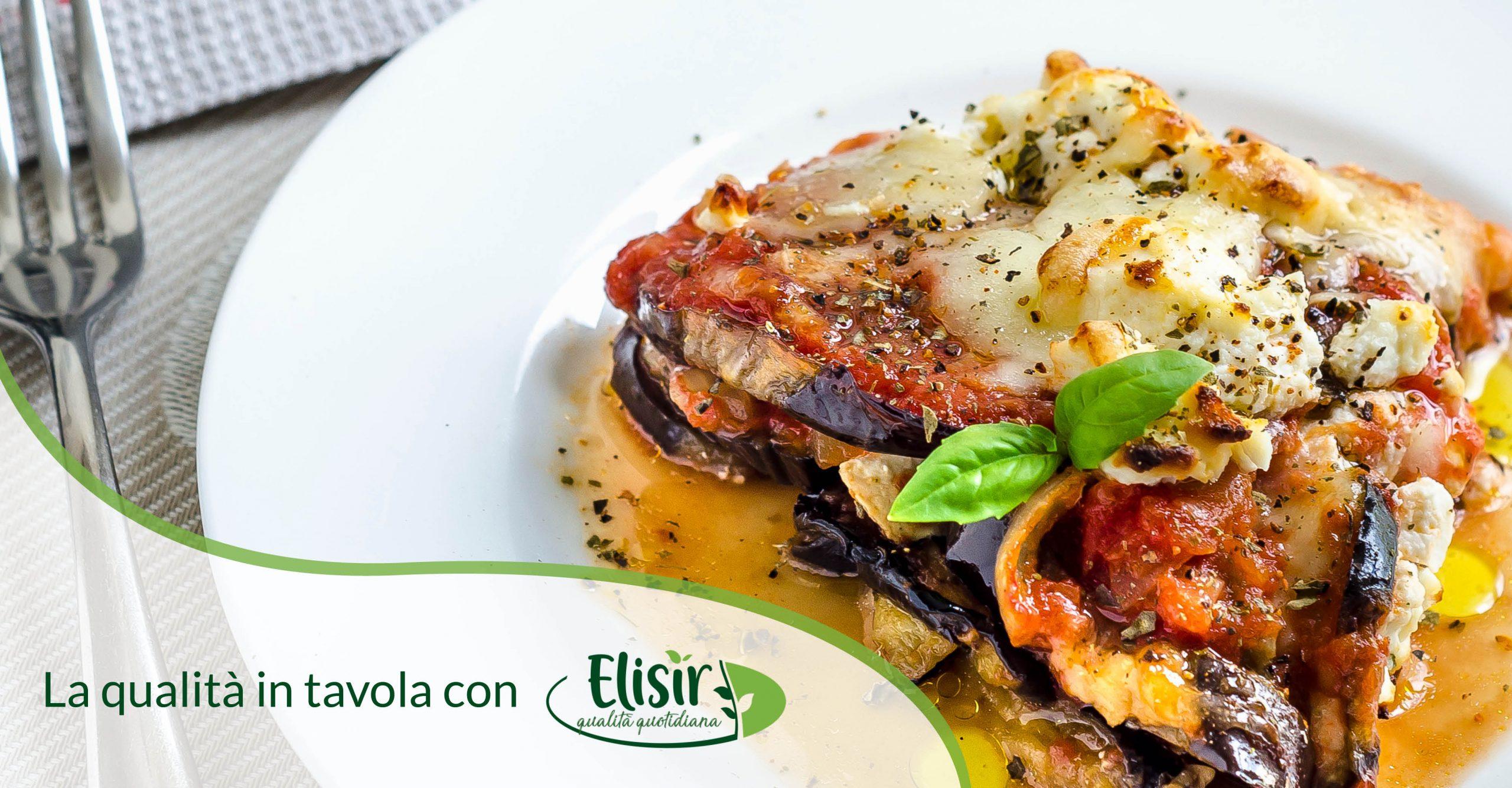 Parmigiana di melanzane con mozzarella e ricotta